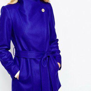 Paria royal purple Short Wrap Coat,Size 6 US